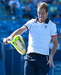 Richard Gasket (FRA) loses to Andy Murray (GBR) 4-6, 6-1, 6-4 at the Western and Southern Open in Mason, OH on August 21, 2015.