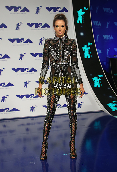INGLEWOOD, CA - August 27: Alessandra Ambrosio, At 2017 MTV Video Music Awards At The Forum In California on August 27, 2017. <br /> CAP/MPI/FS<br /> &copy;FS/MPI/Capital Pictures