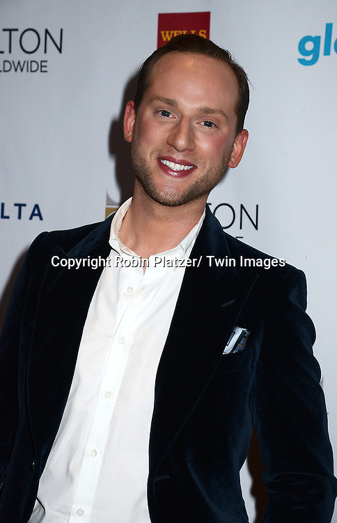 Noah Levy attends the 25th Annual GLAAD Media Awards at the Waldorf Astoria Hotel in New York City, NY on May 3, 2014.
