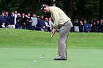 Justin Rose putts in the third round of the BMW PGA Championship on the 26th of May 2007 at the Wentworth Golf Club, Surrey, England. (Photo by Manus O'Reilly/NEWSFILE)