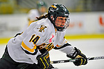 8 February 2009: University of Vermont Catamounts' defenseman Peggy Wakeham, a Sophomore from Bay Roberts, Newfoundland, in action against the University of New Hampshire Wildcats in the second game of a weekend series at Gutterson Fieldhouse in Burlington, Vermont. The Wildcats defeated the lady Catamounts 6-2 to sweep the 2-game series. Mandatory Photo Credit: Ed Wolfstein Photo