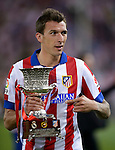 9   Atletico Madrid's Croatian forward Mario Mandzukic<br />  celebrates the achievement of the Spanish Super Cup first leg football match Club Atletico de Madrid vs Real Madrid CF at the Manzanares stadium in Madrid on August 22, 2014. PHOTOCALL3000/ DP