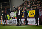 Home manager Sean Dyche shouting instructions during the second-half as Burnley hosted Everton in an English Premier League fixture at Turf Moor. Founded in 1882, Burnley played their first match at the ground on 17 February 1883 and it has been their home ever since. The visitors won the match 5-1, watched by a crowd of 21,484.