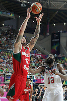 USA's James Harden (r) and Mexico's Hector Hernandez during 2014 FIBA Basketball World Cup Round of 16 match.September 6,2014.(ALTERPHOTOS/Acero)