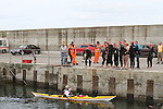 Swimmers at the Green Buoy 1KM Swim in Clogherhead.....(Photo credit should read Jenny Matthews/NEWSFILE)...