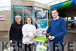 Ciaran Culloty The Reeks Centra Killarney celebrates selling the winning Euro millions Lotto ticket on Tuesday draw with Edyta Hernas and Barbara Palac on Wednesday