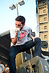 Jeremy McKinnon of A Day To Remember performs during the 2013 Rock On The Range festival at Columbus Crew Stadium in Columbus, Ohio.