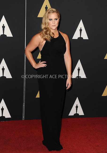WWW.ACEPIXS.COM<br /> <br /> November 14 2015, LA<br /> <br /> Amy Schumer arriving at the Academy of Motion Picture Arts and Sciences' 7th Annual Governors Awards at The Ray Dolby Ballroom at the Hollywood &amp; Highland Center on November 14, 2015 in Hollywood, California<br /> <br /> <br /> By Line: Peter West/ACE Pictures<br /> <br /> <br /> ACE Pictures, Inc.<br /> tel: 646 769 0430<br /> Email: info@acepixs.com<br /> www.acepixs.com
