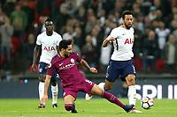 Mousa Dembélé of Tottenham Hotspur and Ilkay Gundogan of Manchester City during Tottenham Hotspur vs Manchester City, Premier League Football at Wembley Stadium on 14th April 2018