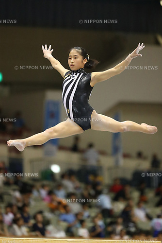 Rinne Sakatani (), <br /> AUGUST 21, 2017 - Artistic Gymnastics : <br /> 48th All Japan Junior High School Championships <br /> Women's Individual All-Around <br /> Balance Beam <br /> at Kitakyushu City General Gymnasium, Fukuoka, Japan. <br /> (Photo by YUTAKA/AFLO)