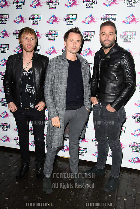 Muse at the VO5 NME Awards 2018 at the Brixton Academy, London, UK. <br /> 14 February  2018<br /> Picture: Steve Vas/Featureflash/SilverHub 0208 004 5359 sales@silverhubmedia.com