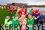Kerry O'Mahony, Marilyn O'Shea and  Donna O'Mahony, who took part in the Santa 5k run which took place at Tralee Wetlands Centre on Sunday.
