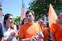RIO DE JANEIRO, RJ - 02.09.2018 - ELEIÇÕES-2018, O candidato à Presidência João Amôedo (NOVO) durante caminhada pela orla do Leblon (RJ) na manhã deste domingo, Rio de Janeiro (RJ),(Foto: Vanessa Ataliba/Brazil Photo Press/Folhapress)