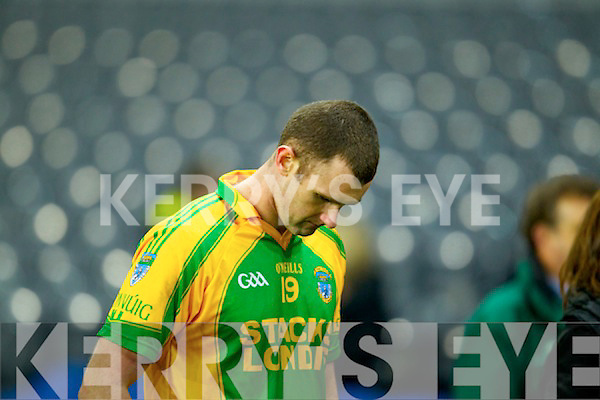 John McCarthy Finuge dejected after being defeated by Cookstown Fr Rocks Tyrone in the All Ireland Intermediate Final at Croke Park on Saturday.