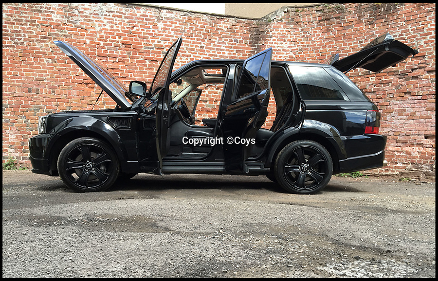 BNPS.co.uk (01202 558833)<br /> Pic:  Coys/BNPS<br /> <br /> A customised Range Rover that was made for David Beckham has sold for £27,000.<br /> <br /> The 2007 4x4 was specially designed to the former England footballer's own specifications, including hand-stitched quilted leather seats.<br /> <br /> His personal touches also include a bespoke sound system and twin rear screens to keep his then young children entertained.<br /> <br /> There is also a plaque bearing the moniker 'Designed for David Beckham' and his surname is embroided in the carpets.