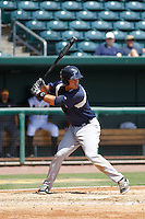 Pensacola Blue Wahoos infielder Ryan Wright (6) in action during a game against the Jacksonville Suns at Bragan Field on the Baseball Grounds of Jacksonville on May 11, 2015 in Jacksonville, Florida. Jacksonville defeated Pensacola 5-4. (Robert Gurganus/Four Seam Images)