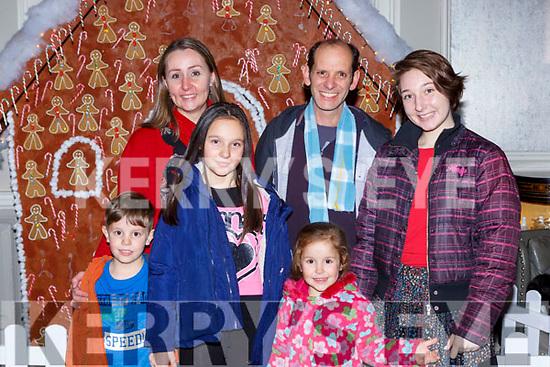 Kai, Milandi, Maya, Karl,  Lisa and Lexi  Basel,at the Focus Ireland Christmas party in the Great Southern Hotel on Saturday