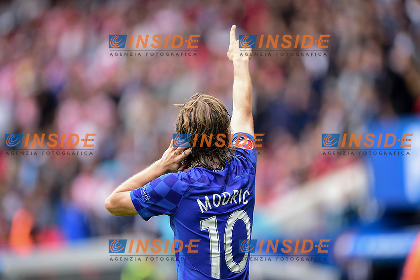 Luka Modric (Croatia) Esultanza Gol. Goal celebration <br /> Paris 12-06-2016 Parc des Princes Football Euro2016 Turkey - Croatia / Turchia - Croazia Group Stage Group D. Foto Panoramic / Insidefoto