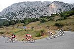 Alessandro Ballan, Joaquin Purito Rodriguez and Alberto Losada during the stage of La Vuelta 2012 beetwen Santander-Fuente De.September 5,2012. (ALTERPHOTOS/Paola Otero)