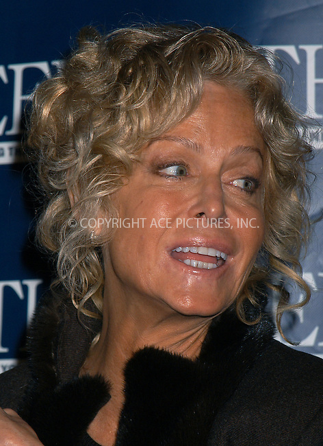 Farrah Fawcett participates in 'A Conversation About Love' presented by The Week Magazine. New York, February 12, 2004. Please byline: AJ SOKALNER/ACE Pictures.   ..*PAY-PER-USE*      ....IMPORTANT: Please note that our old trade name, NEW YORK PHOTO PRESS (NYPP), is replaced by new name, ACE PICTURES. New York Photo Press and ACE Pictures are owned by All Celebrity Entertainment, Inc.......All Celebrity Entertainment, Inc:  ..contact: Alecsey Boldeskul (646) 267-6913 ..Philip Vaughan (646) 769-0430..e-mail: info@nyphotopress.com