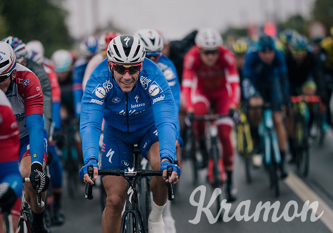 Philippe Gilbert (BEL/Quick Step floors) happy to be back in the peloton<br /> <br /> 2018 Binche - Chimay - Binche / Memorial Frank Vandenbroucke (1.1 Europe Tour)<br /> 1 Day Race: Binche to Binche (197km)