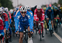 Philippe Gilbert (BEL/Quick Step floors) happy to be back in the peloton<br /> <br /> 2018 Binche - Chimay - Binche / Memorial Frank Vandenbroucke (1.1 Europe Tour)<br /> 1 Day Race: Binche to Binche (197km)