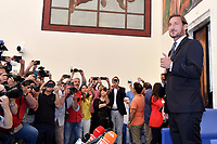 AS Roma legend former player Francesco Totti attends a press conference to announce his retirement as manager of the team .<br /> Roma 17-6-2019 CONI <br /> Photo Andrea Staccioli / Insidefoto