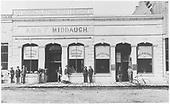 Del Norte, CO businesses of Asa F. Middaugh and Bank of Del Norte.<br /> Del Norte, CO  ca. 1891