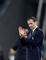 Juventus coach Massimiliano Allegri applauds his players during the Champions League round of 16 soccer match against Porto at Turin's Juventus Stadium, 14 March 2017. Juventus won 1-0 (3-0 on aggregate) to reach the quarter finals.<br /> UPDATE IMAGES PRESS/Isabella Bonotto