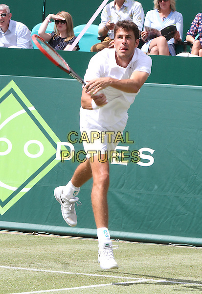 STOKE POGES, ENGLAND - JUNE 18: Netherlands' Robin Haase in action during Day Two of The Boodles Tennis Event at Stoke Park on June 17, 2014 in Stoke Poges, England<br /> CAP/JIL<br /> &copy;Jill Mayhew/Capital Pictures