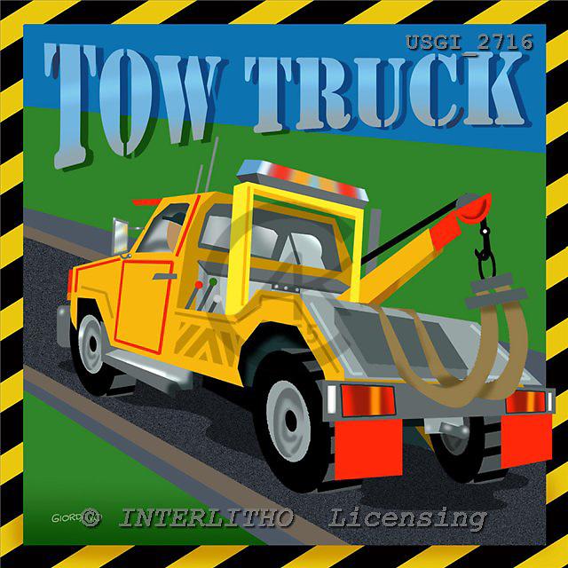 GIORDANO, TEENAGERS, JUGENDLICHE, JÓVENES, paintings+++++,USGI2716,#J# tow truck ,everyday