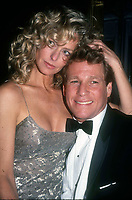 1979 FILE PHOTO<br /> New York, NY<br /> Farrah Fawcett Ryan O'Neil at Studio 54<br /> Photo by Adam Scull/PHOTOlink.net