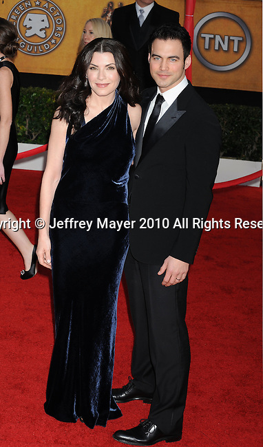 LOS ANGELES, CA. - January 23: Julianna Margulies and Keith Lieberthal arrive at the 16th Annual Screen Actors Guild Awards held at The Shrine Auditorium on January 23, 2010 in Los Angeles, California.