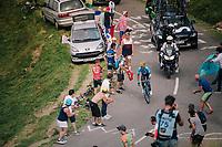Nairo Quintana (COL/Movistar) up the last climb of the 2018 Tour: the Col d'Aubisque (HC/1709m/16.6km@4.9%)<br /> <br /> Stage 19: Lourdes > Laruns (200km)<br /> <br /> 105th Tour de France 2018<br /> ©kramon
