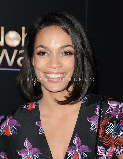 WWW.ACEPIXS.COM<br /> <br /> February 27 2015, LA<br /> <br /> Actress Rosario Dawson arriving at the 3rd Annual Noble Awards at The Beverly Hilton Hotel on February 27, 2015 in Beverly Hills, California.<br /> <br /> <br /> By Line: Peter West/ACE Pictures<br /> <br /> <br /> ACE Pictures, Inc.<br /> tel: 646 769 0430<br /> Email: info@acepixs.com<br /> www.acepixs.com