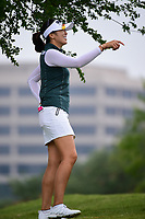 Mi Jung Hur (KOR) shares a laugh on the number 3 tee box during round 3 of  the Volunteers of America Texas Shootout Presented by JTBC, at the Las Colinas Country Club in Irving, Texas, USA. 4/29/2017.<br /> Picture: Golffile | Ken Murray<br /> <br /> <br /> All photo usage must carry mandatory copyright credit (&copy; Golffile | Ken Murray)