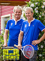 Zandvoort, Netherlands, August 6, 2019, TC Zandvoort, Coaches Dick Suyk (NED) and Hans Schmid (NED) (R)<br /> Photo: Tennisimages/Henk Koster