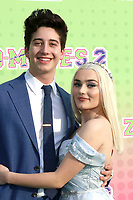 """LOS ANGELES - JAN 25:  Milo Manheim, Meg Donnelly at the """"Zombies 2"""" Screening at the Disney Studios on January 25, 2020 in Burbank, CA"""
