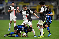 Kwadwo Asamoah of FC Internazionale , Miralem Pjanic of Juventus , \ciuard\, Nicolo Barella of FC Internazionale <br /> Milano 6-10-2019 Stadio Giuseppe Meazza <br /> Football Serie A 2019/2020 <br /> FC Internazionale - Juventus FC <br /> Photo Andrea Staccioli / Insidefoto
