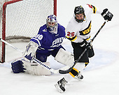Derek Mohney (Curry - 30), Sean McLaughlin (WIT - 25) - The Wentworth Institute of Technology Leopards defeated the visiting Curry College Colonels 1-0 on Saturday, November 23, 2013, at Walter Brown Arena in Boston, Massachusetts.