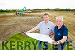 Tim Murphy County Develeopment officer with Jim O'Gorman, Kerry's Eye at the new Kerry GAA Training facility at Currans.