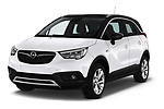 2018 Opel Crossland X Innovation 5 Door SUV angular front stock photos of front three quarter view