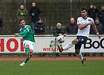 09.03.2019, Platz 11, Bremen, GER,RL Nord, Werder Bremen II vs VfB Oldenburg, im Bild<br /> die Flanke...<br /> Finn BARTELS (Werder Bremen II #22 ) Gazi SIALA (VfB Oldenburg #10 )<br /> <br /> Foto &copy; nordphoto / Rojahn