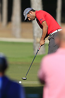 Pablo Larrazabal (ESP) putts on the 17th green during Sunday's Final Round of the 2018 Turkish Airlines Open hosted by Regnum Carya Golf &amp; Spa Resort, Antalya, Turkey. 4th November 2018.<br /> Picture: Eoin Clarke | Golffile<br /> <br /> <br /> All photos usage must carry mandatory copyright credit (&copy; Golffile | Eoin Clarke)