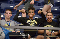 NWA Democrat-Gazette/BEN GOFF @NWABENGOFF<br /> Bentonville wrestlers watch their teammates compete Saturday, Feb. 11, 2017, during the Big West Conference wrestling tournament at Wolverine Arena in Centerton.