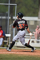 Miami Marlins Cody Keefer (33) during a minor league spring training game against the St. Louis Cardinals on March 31, 2015 at the Roger Dean Complex in Jupiter, Florida.  (Mike Janes/Four Seam Images)