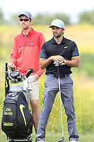 Joel Stalter (FRA) on the 1st tee during Round 1 of the Challenge de Madrid, a Challenge  Tour event in El Encin Golf Club, Madrid on Wednesday 22nd April 2015.<br /> Picture:  Thos Caffrey / www.golffile.ie