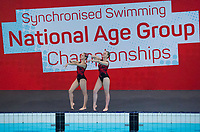 Picture by Allan McKenzie/SWpix.com - 25/11/2017 - Swimming - Swim England Synchronised Swimming National Age Group Championships 2017 - GL1 Leisure Centre, Gloucester, England - Elizabeth Cornes & Katherine Richey.