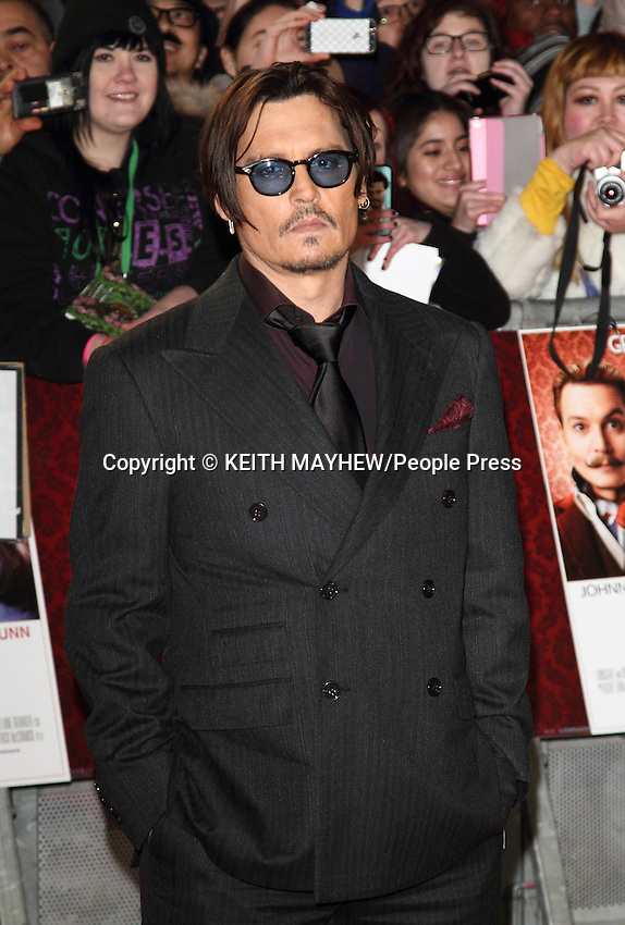 'Mortdecai' UK Film Premiere at the Empire Leicester Square, London on January 19th 2015 <br /> <br /> Photo by Keith Mayhew