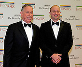 Michael M. Kaiser, President of the John F. Kennedy Center for the Performing Arts, and John Roberts arrive for the formal Artist's Dinner honoring the recipients of the 2012 Kennedy Center Honors hosted by United States Secretary of State Hillary Rodham Clinton at the U.S. Department of State in Washington, D.C. on Saturday, December 1, 2012. The 2012 honorees are Buddy Guy, actor Dustin Hoffman, late-night host David Letterman, dancer Natalia Makarova, and the British rock band Led Zeppelin (Robert Plant, Jimmy Page, and John Paul Jones)..Credit: Ron Sachs / CNP